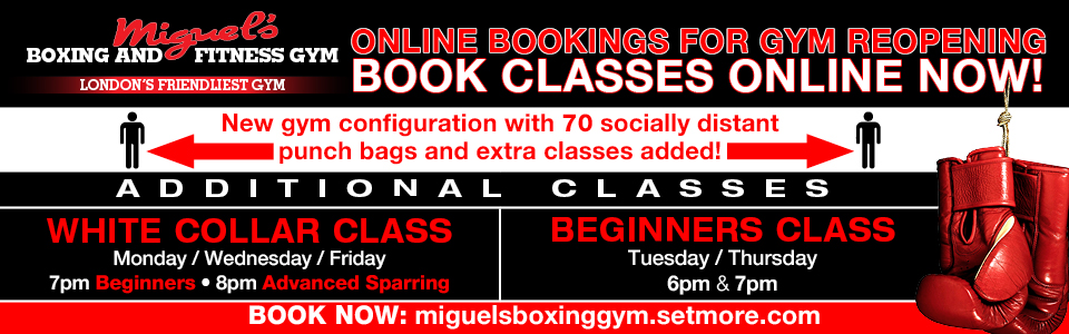 Book classes online at miguels boxing gym